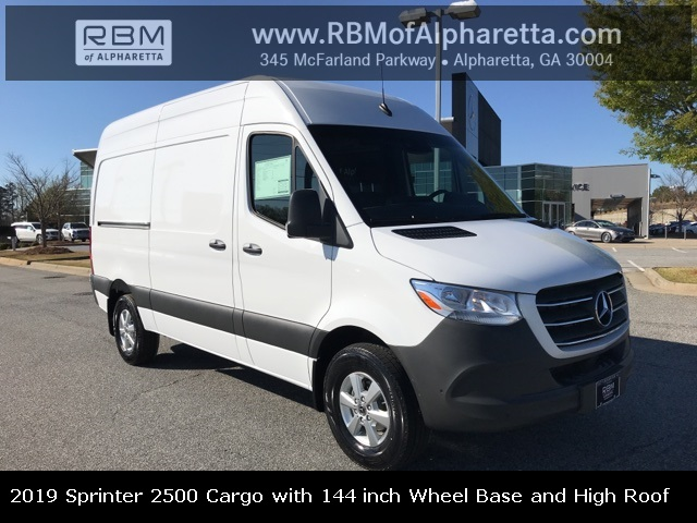 New 2019 Mercedes-Benz Sprinter Cargo Van 2500 with 144 WB and High Roof